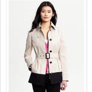 Banana Republic Colour Block Short Trench